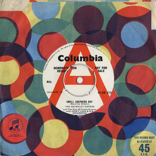 "The Beverley Sisters Small Shepherd Boy 7"" vinyl single (7 inch record) UK BS407SM481654"