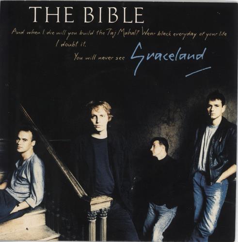"The Bible Graceland - 3 tracks 7"" vinyl single (7 inch record) UK BIB07GR707723"
