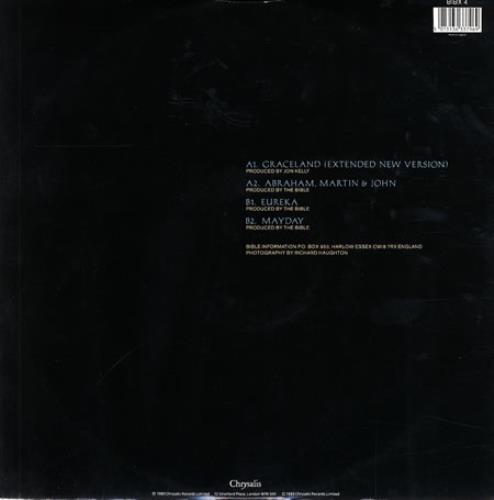 "The Bible Graceland 12"" vinyl single (12 inch record / Maxi-single) UK BIB12GR239941"