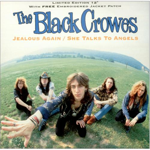 "The Black Crowes Jealous Again + Patch 12"" vinyl single (12 inch record / Maxi-single) UK CRW12JE20421"