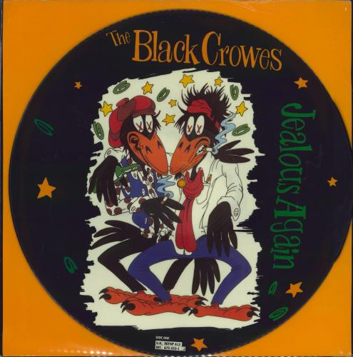 """The Black Crowes Jealous Again - EX 12"""" vinyl picture disc 12inch picture disc record UK CRW2PJE741158"""