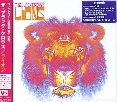 The Black Crowes Lions CD album (CDLP) Japanese CRWCDLI224877