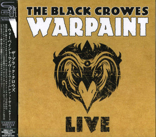 The Black Crowes War Paint Live SHM CD Japanese CRWHMWA465271