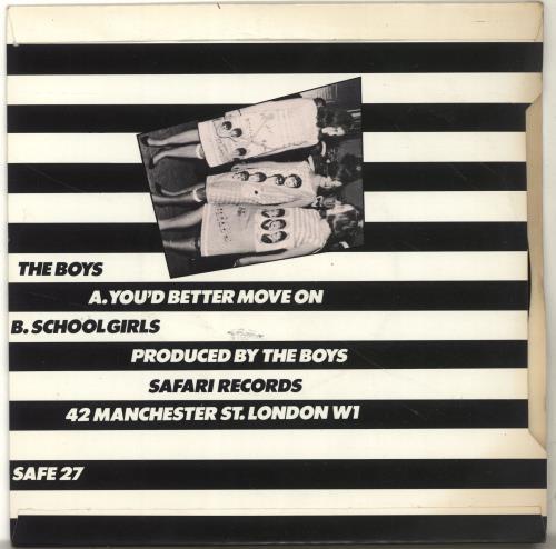 "The Boys (Punk) You Better Move On 7"" vinyl single (7 inch record) UK THB07YO655223"