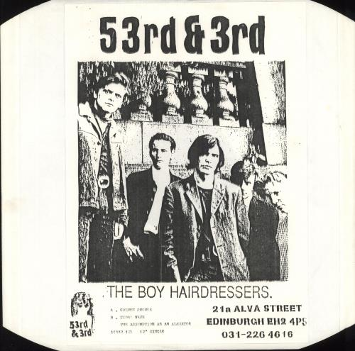 "The Boy Hairdressers Golden Shower 12"" vinyl single (12 inch record / Maxi-single) UK T3Q12GO747693"