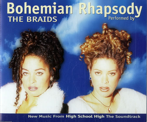 "The Braids Bohemian Rhapsody - Blue picture sleeve CD single (CD5 / 5"") German BIDC5BO576574"
