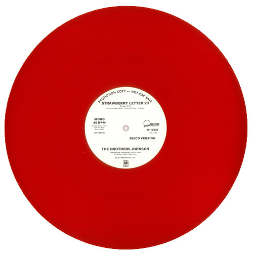 The Brothers Johnson Strawberry Letter 23 Red Vinyl US Promo 12