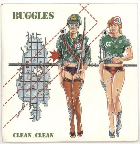 """The Buggles Clean, Clean 7"""" vinyl single (7 inch record) Dutch BUG07CL720590"""