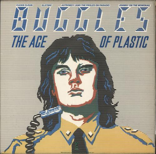 The Buggles The Age Of Plastic - Stickered sleeve vinyl LP album (LP record) UK BUGLPTH727134