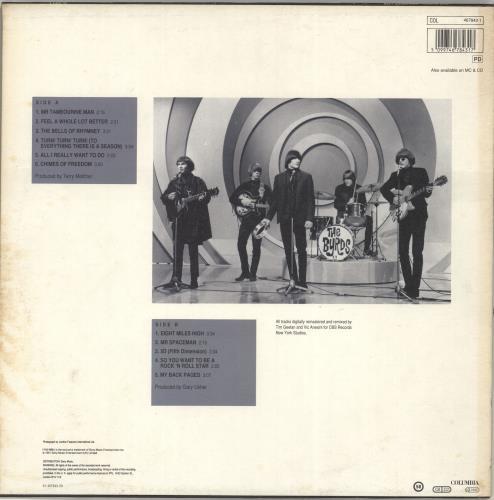 The Byrds Greatest Hits Remastered vinyl LP album (LP record) UK BYRLPGR703907