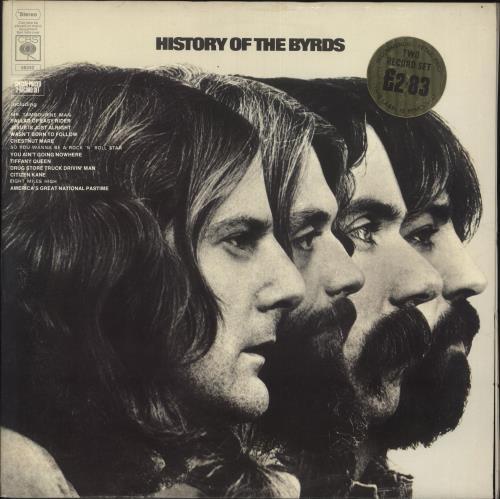 The Byrds History Of The Byrds - 1st - EX 2-LP vinyl record set (Double Album) UK BYR2LHI570994