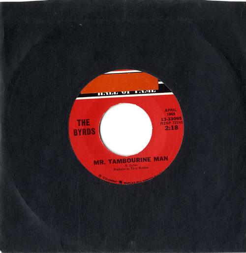 "The Byrds My Tambourine Man 7"" vinyl single (7 inch record) US BYR07MY630870"