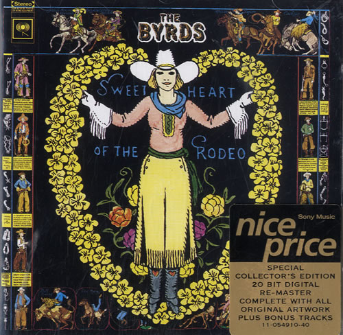 The Byrds Sweetheart Of The Rodeo CD album (CDLP) UK BYRCDSW576127