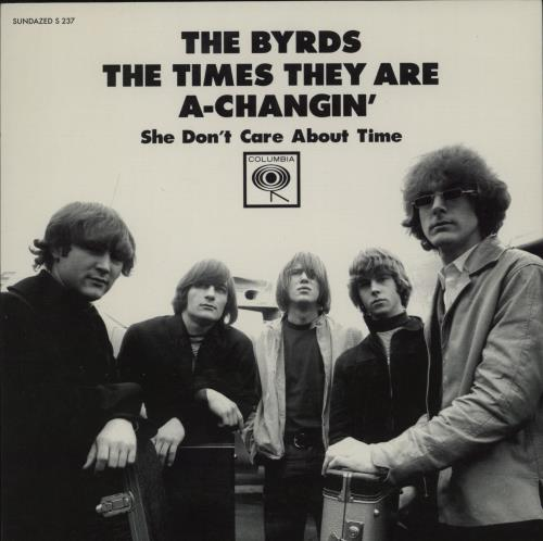 """The Byrds The Times They Are A-Changin' - RSD BF11 - Red Vinyl 7"""" vinyl single (7 inch record) US BYR07TH764687"""