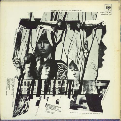 The Byrds Younger Than Yesterday - EX vinyl LP album (LP record) US BYRLPYO769152