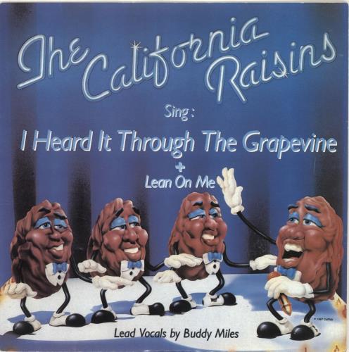 "The California Raisins I Heard It Through The Grapevine 7"" vinyl single (7 inch record) UK V4807IH690105"