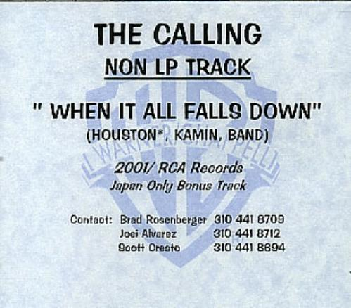 The Calling Non LP Track CD-R acetate US ALLCRNO327503