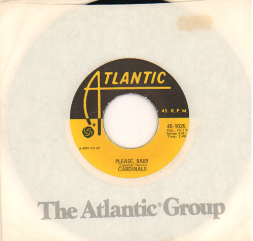 """The Cardinals Please, Baby 7"""" vinyl single (7 inch record) US WNX07PL642521"""