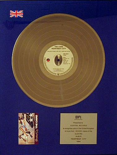 The Cars Heartbeat City award disc UK C-RAWHE376898