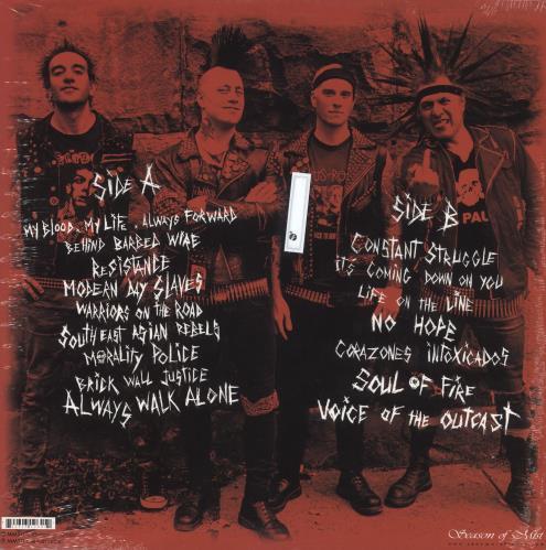 The Casualties Resistance - Clear Vinyl - Sealed vinyl LP album (LP record) French 1IJLPRE743166