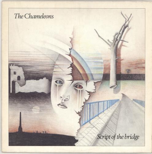 The Chameleons Script Of The Bridge - Textured Sleeve + Poster vinyl LP album (LP record) UK CMLLPSC358961