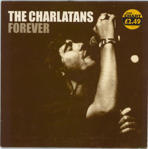 """The Charlatans (UK) Forever + Poster 7"""" vinyl single (7 inch record) UK CHA07FO145653"""