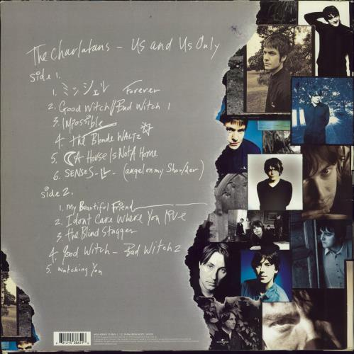The Charlatans (UK) Us And Us Only - Fully Autographed vinyl LP album (LP record) UK CHALPUS770184