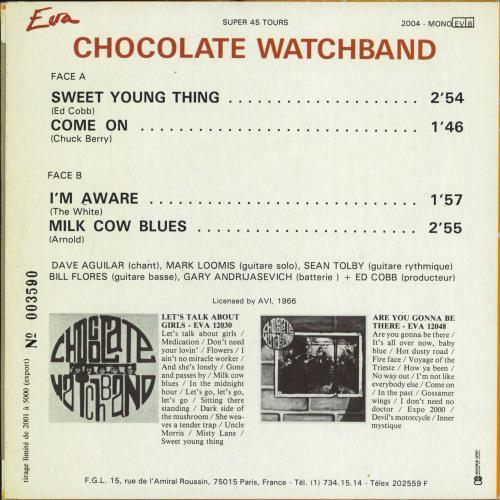 "The Chocolate Watch Band The Chocolate Watch Band EP 7"" vinyl single (7 inch record) French CWB07TH770170"