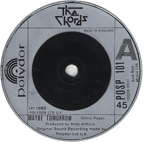 The Chords Maybe Tomorrow Uk 7 Vinyl Single 7 Inch Record 446663