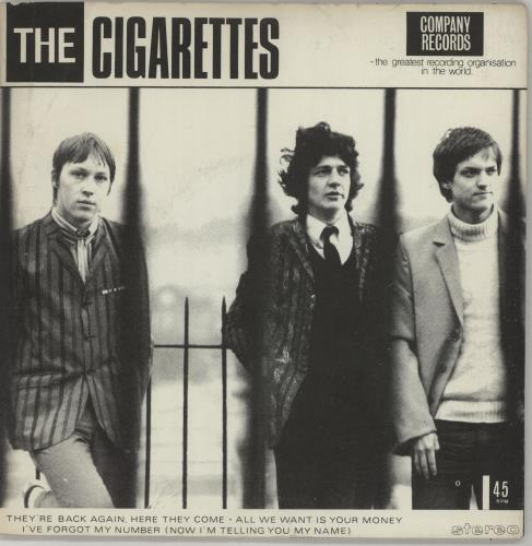 "The Cigarettes They're Back Again, Here They Come - 2nd Black labels 7"" vinyl single (7 inch record) UK X1H07TH659622"
