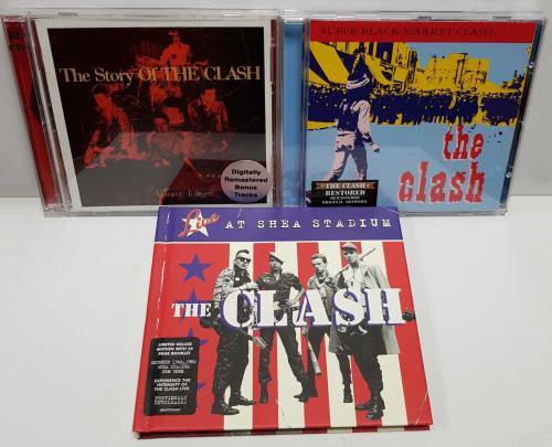 The Clash 1977-1982 Studio Albums UK CD album (CDLP)