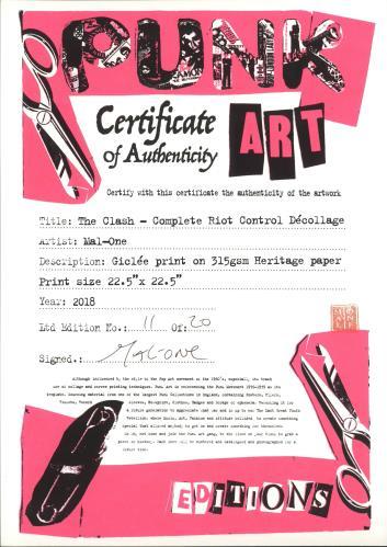 The Clash Complete Riot Control - Punk Art Print artwork UK CSHARCO718881