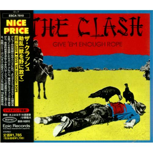 The Clash Give Em Enough Rope Japanese Promo Cd Album