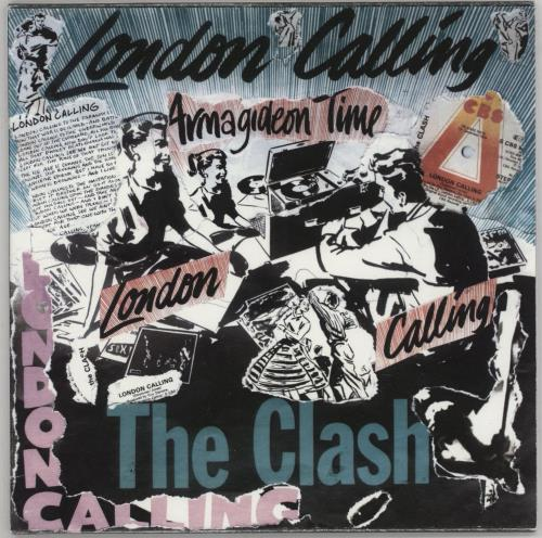 "The Clash London Calling - Punk Art Sleeve 7"" vinyl single (7 inch record) UK CSH07LO757449"