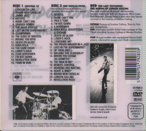 The Clash London Calling 3-disc CD/DVD Set UK CSH3DLO301803