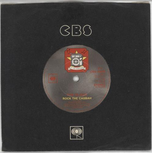 "The Clash Rock The Casbah - Company sleeve 7"" vinyl single (7 inch record) UK CSH07RO733273"