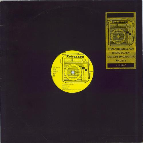 "The Clash This Is Radio Clash - EX 12"" vinyl single (12 inch record / Maxi-single) UK CSH12TH695414"