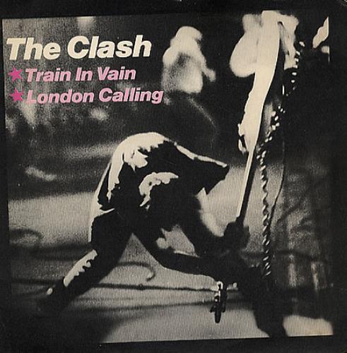 """The Clash Train In Vain 7"""" vinyl single (7 inch record) Brazilian CSH07TR349496"""