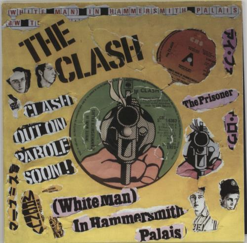 "The Clash White Man In Hammersmith Palais - Punk Art Sleeve 7"" vinyl single (7 inch record) UK CSH07WH757451"