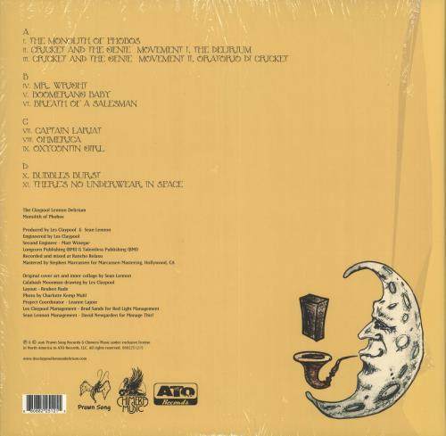 The Claypool Lennon Delirium Monolith Of Phobos 2-LP vinyl record set (Double Album) US YHZ2LMO715534