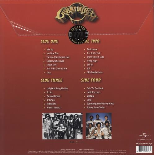 The Commodores Collected - Red & Gold Vinyl 2-LP vinyl record set (Double Album) UK CMM2LCO709730