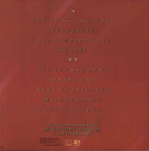 The Commodores Heroes vinyl LP album (LP record) Japanese CMMLPHE739809
