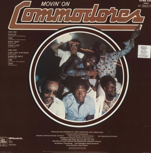 The Commodores Movin' On vinyl LP album (LP record) UK CMMLPMO723373