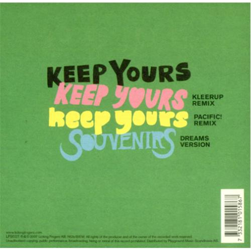 "The Concretes Keep Yours CD single (CD5 / 5"") Swedish ULXC5KE418429"
