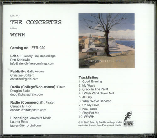The Concretes WYWH CD-R acetate US ULXCRWY522488