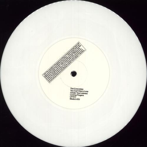 "The Concretes You Can't Hurry Love - White Vinyl 7"" vinyl single (7 inch record) UK ULX07YO289173"