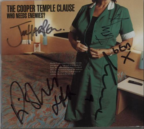 """The Cooper Temple Clause Who Needs Enemies? - Autographed CD single (CD5 / 5"""") UK TCOC5WH282358"""