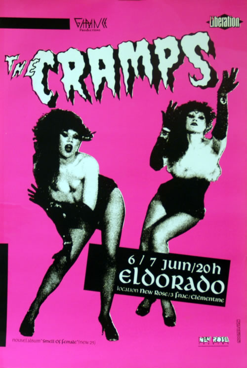 The Cramps Eldorado 6/7 Juin poster French CRAPOEL146736