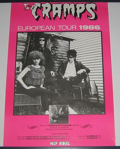 The Cramps European Tour 1986 French Poster 388445