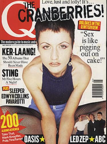 The Cranberries Q - May 1996 magazine UK CRBMAQM377293